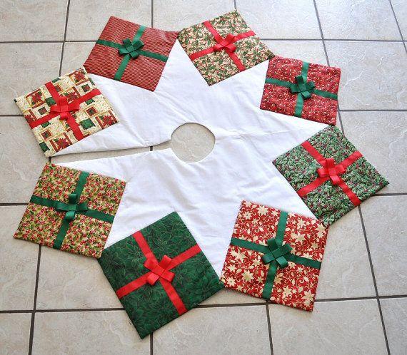 saia para árvore - patchwork de Natal