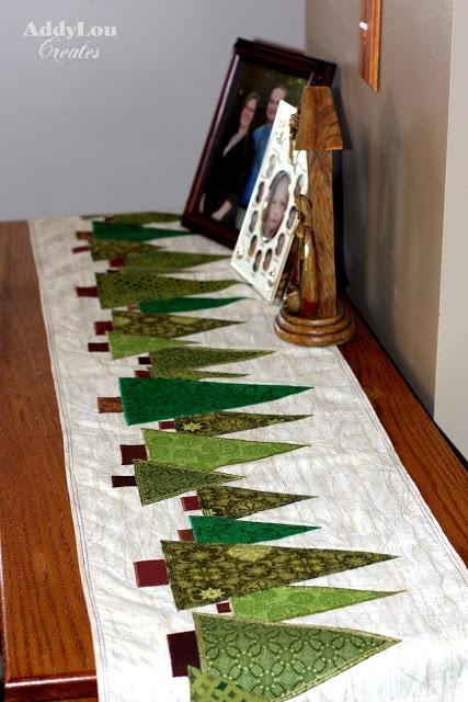 trilho de mesa - patchwork de Natal