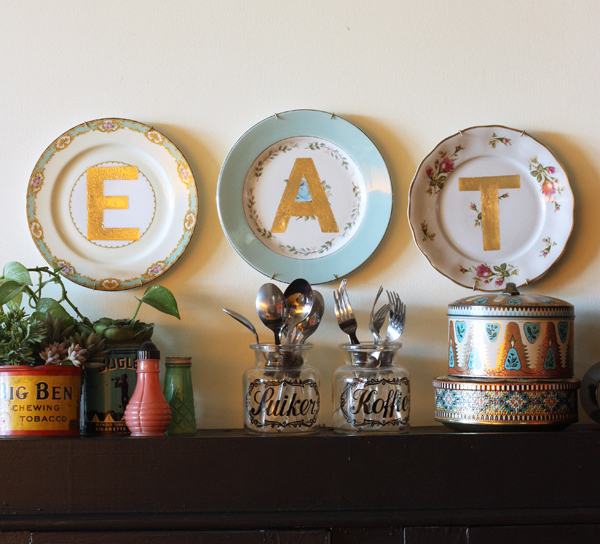 EAT-gold-vintage-plates-DIY