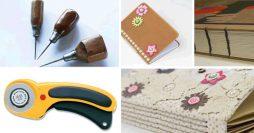Principais Ferramentas e Materiais para Encadernação Artesanal