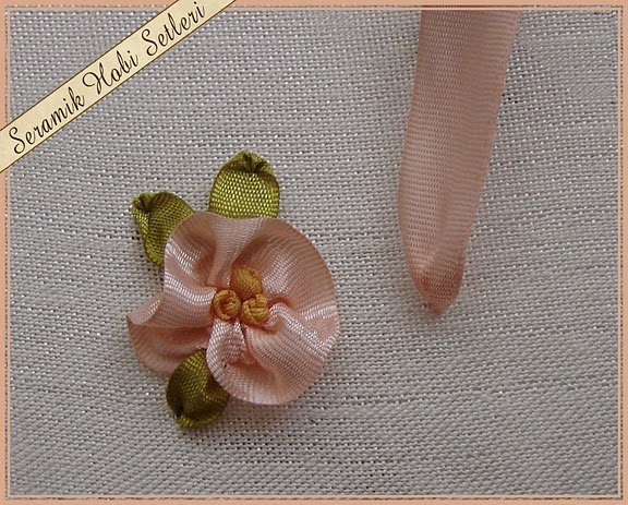 bordado flor - primeiro ponto