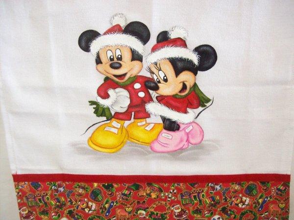 pintura em pano de prato minnie natal