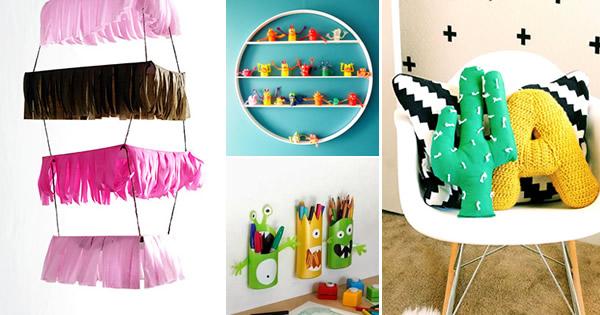 decoracao alternativa de quarto infantil:Decoração de Quarto Infantil – 11 Enfeites de Arrasar (DIY