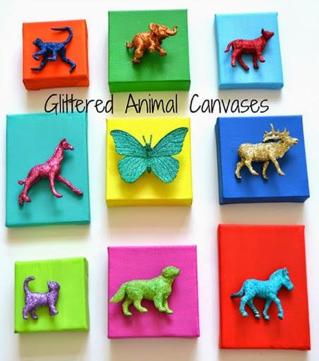 decoração para quarto infantil - quadrinhos com animais
