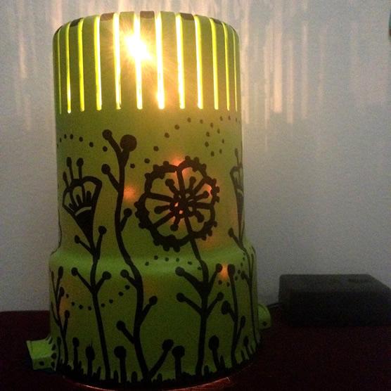 luminária artesanal finalizada