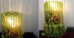 Luminária Artesanal Feita com Copo Coador