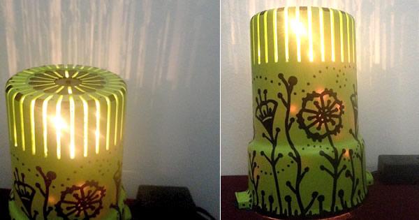 luminária artesanal passo a passo