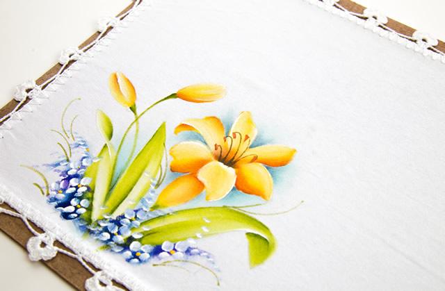 pintura em tecido - lírio passo a passo