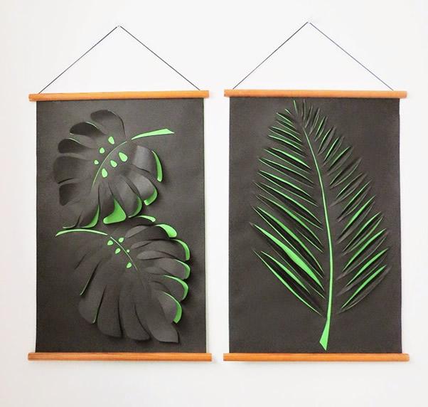 quadro decorativo feito com papel