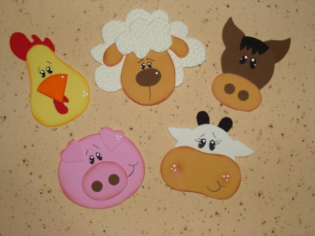 animais da fazenda em EVA