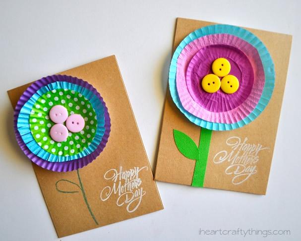 """Cartão Artesanal """"Feliz Dia das Mães"""""""