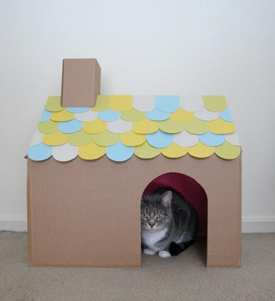 casinha-de-papelão-para-gatos