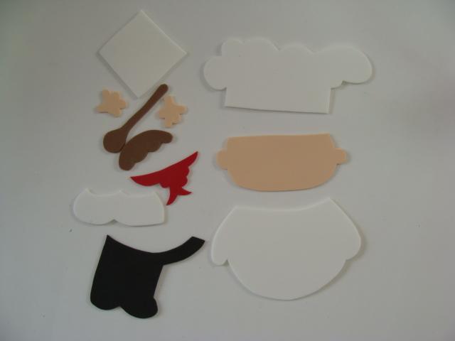 Artesanato Para Cozinha Cozinheiro Em Eva Revista Artesanato