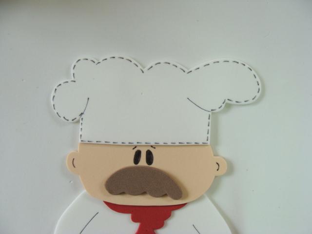 cozinheiro eva aplique com molde