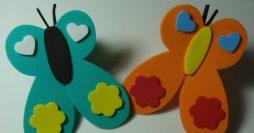 Artesanato Para Crianças: Dedoches de Borboleta em EVA