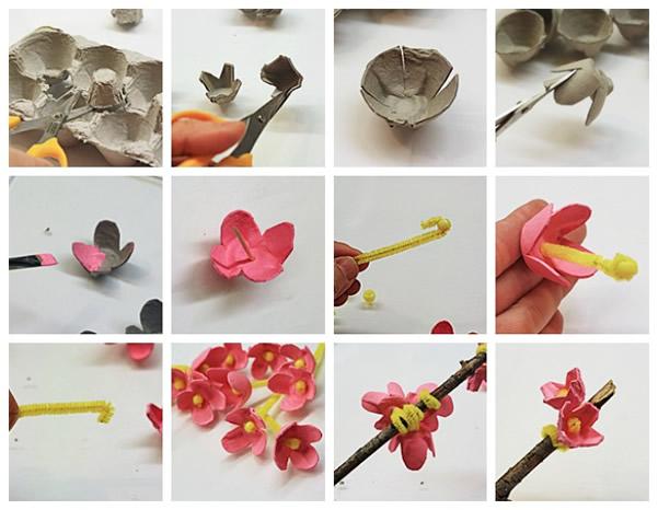 passo-a-passo-galho-decorativo-com-flores-de-caixa-de-ovo