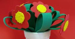 Lembrancinha Para o Dia das Mães – Vasinho com Flores em EVA