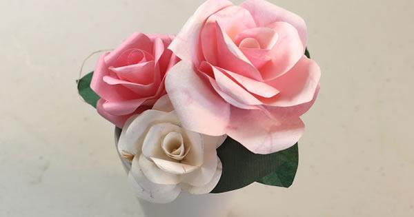Como Fazer Rosas De Papel Passo A Passo Simples Revista
