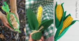 3 Lembrancinhas de Festa Junina no Formato de Espiga de Milho
