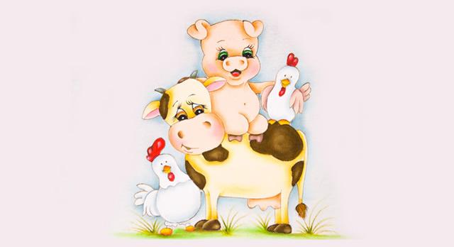 pintura-em-tecido-animais-da-fazenda