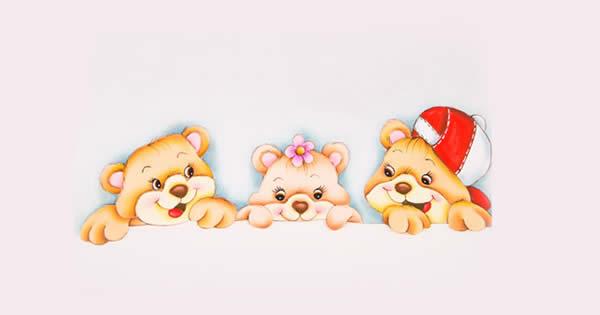 pintura-em-tecido-ursinhos