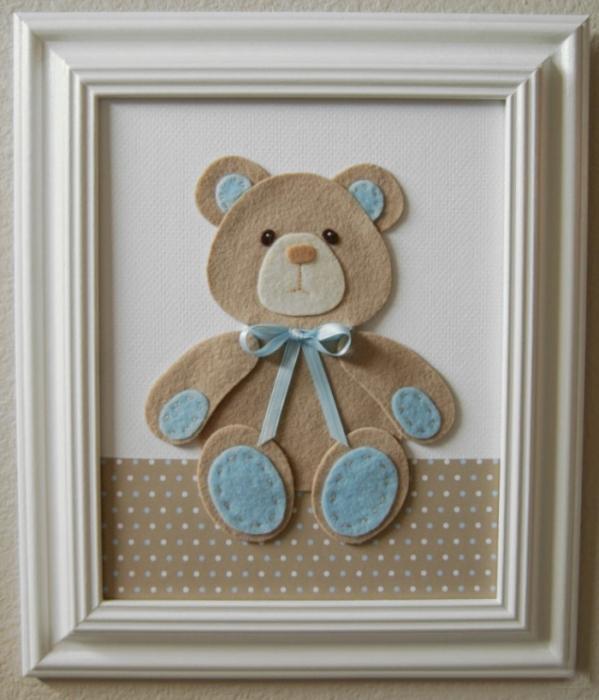Quadro De Urso Para Quarto De Bebe ~ Como Fazer Quadros Para Quarto de Beb?  Revista Artesanato