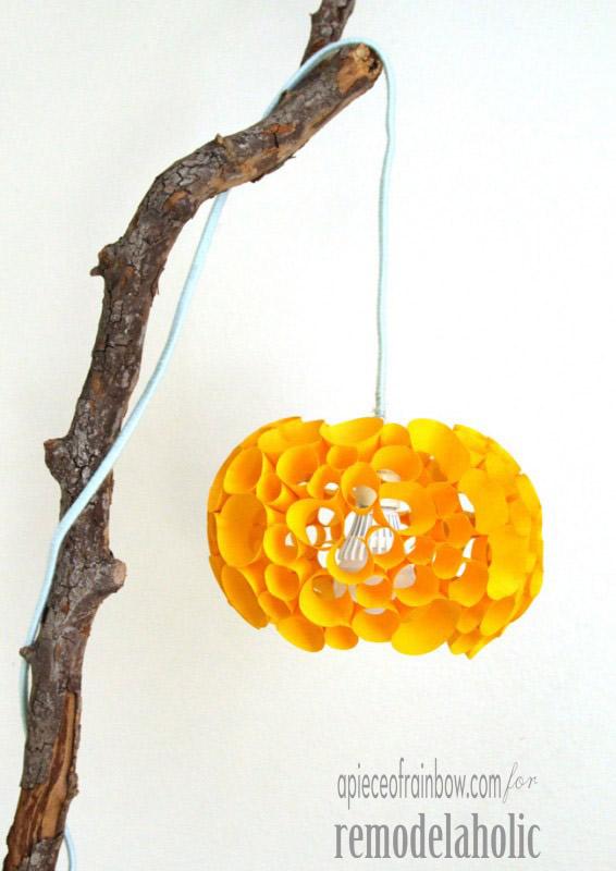 luminárias criativas de papel