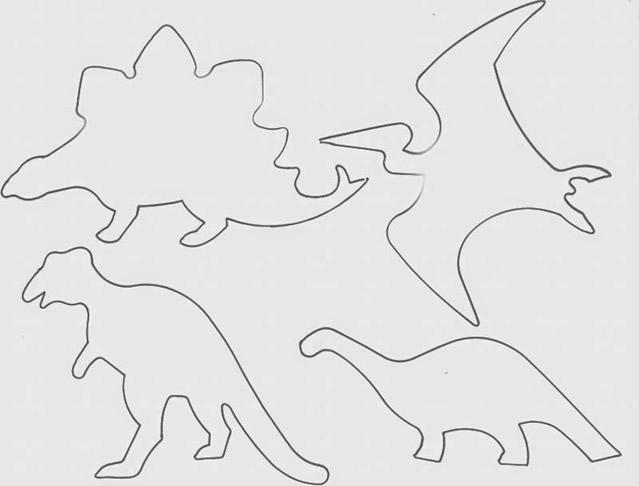 Amado molde-dinossauros : Revista Artesanato GU89