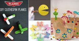 7 Artesanatos com Pregadores de Roupas Pra Você Fazer com as Crianças