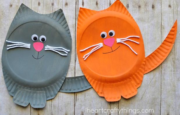 artesanato-com-pratos-de-papel-gatinhos