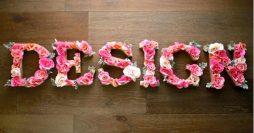 Letras em MDF Decoradas com Flores: Decore Gastando Pouco!