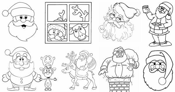 45 Moldes De Papai Noel Para Imprimir E Usar