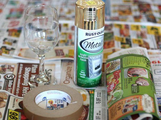 como-decorar-tacas-de-vidro-materiais