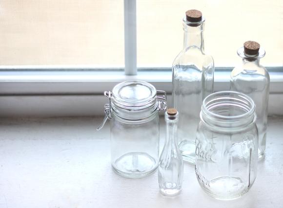 garrafas-e-potes-de-vidro