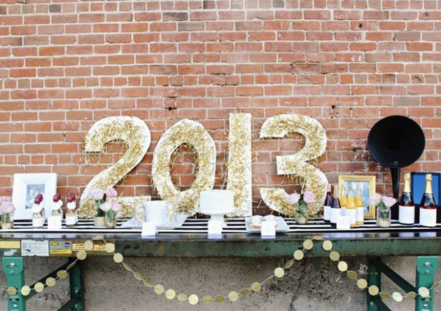 Decoraç u00e3o de Ano Novo Simples e Barata Dicas e  # Decoração De Ano Novo Simples E Barata