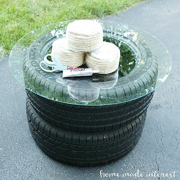 como fazer uma mesa de pneu passo a passo revista artesanato