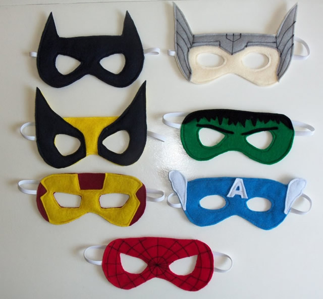 mascaras-super-herois-feltro