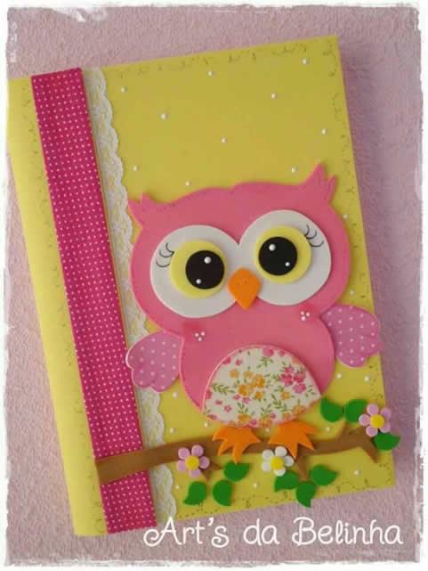 caderno-decorado-com-eva-coruja
