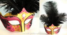 Como Fazer Máscara de Carnaval com Plumas