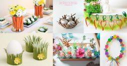 16 Enfeites Simples para uma Decoração de Páscoa de Arrasar