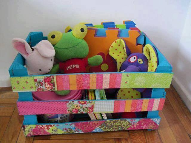 caixote decorado para brinquedos