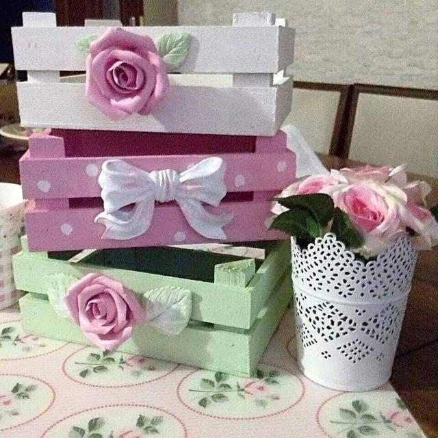 caixotes decorados