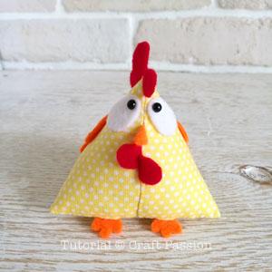 galinho de tecido finalizada