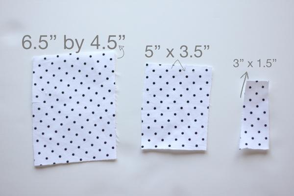 retangulos de tecido de algodao estampado