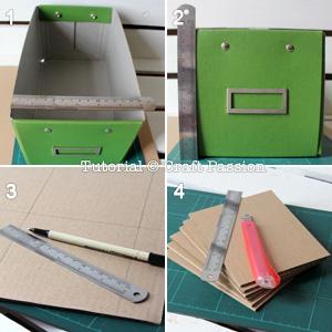 tire a medida da caixa e corte a caixa de papelao