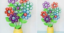 Como Fazer um Buquê de Chocolate Para o Dia das Mães