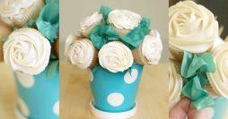 Buquê de Cupcakes Para o Dia das Mães – Lindo e Fácil de Fazer