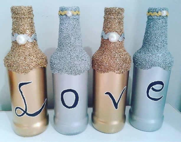 garrafas glitter