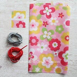 materiais para fazer a mochila