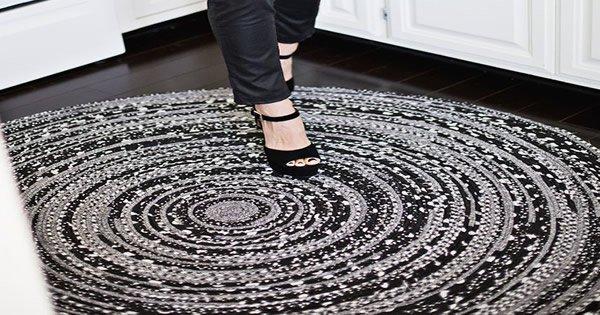 como fazer tapete de tecido